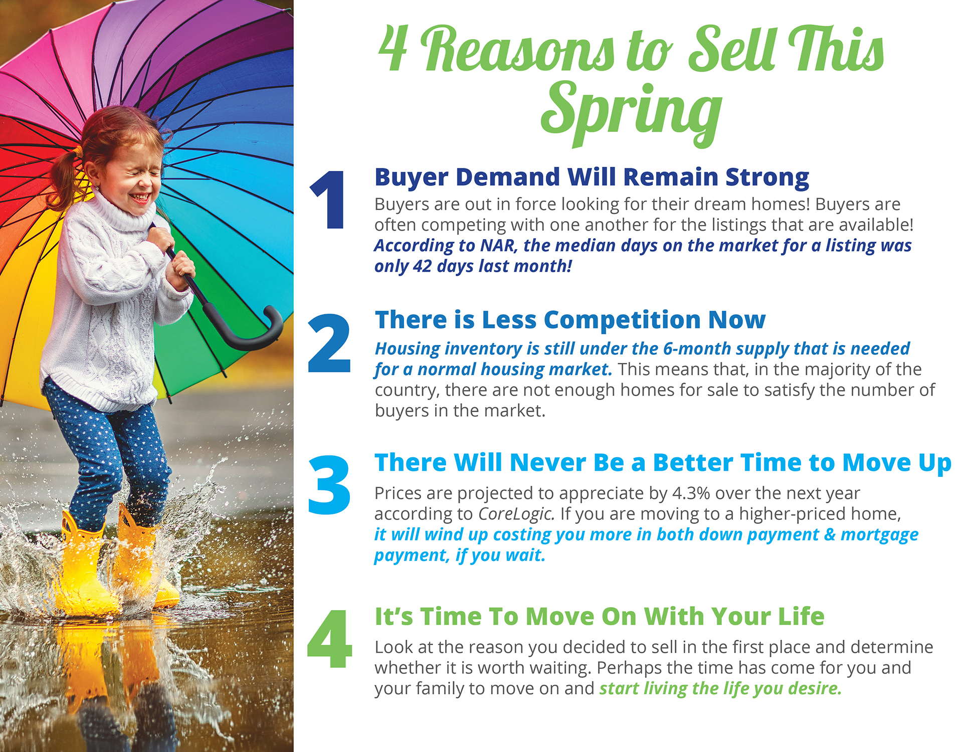 4 Reasons to Sell This Spring [INFOGRAPHIC]   Simplifying The Market